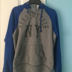 Blue and gray Aeropostale oversized hoodie